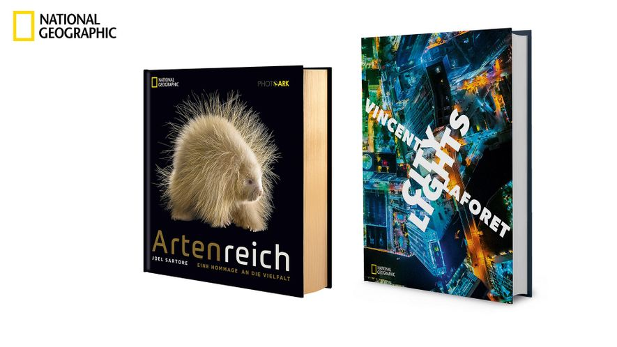 "Bildbände: ""Artenreich"" & ""City Lights""."