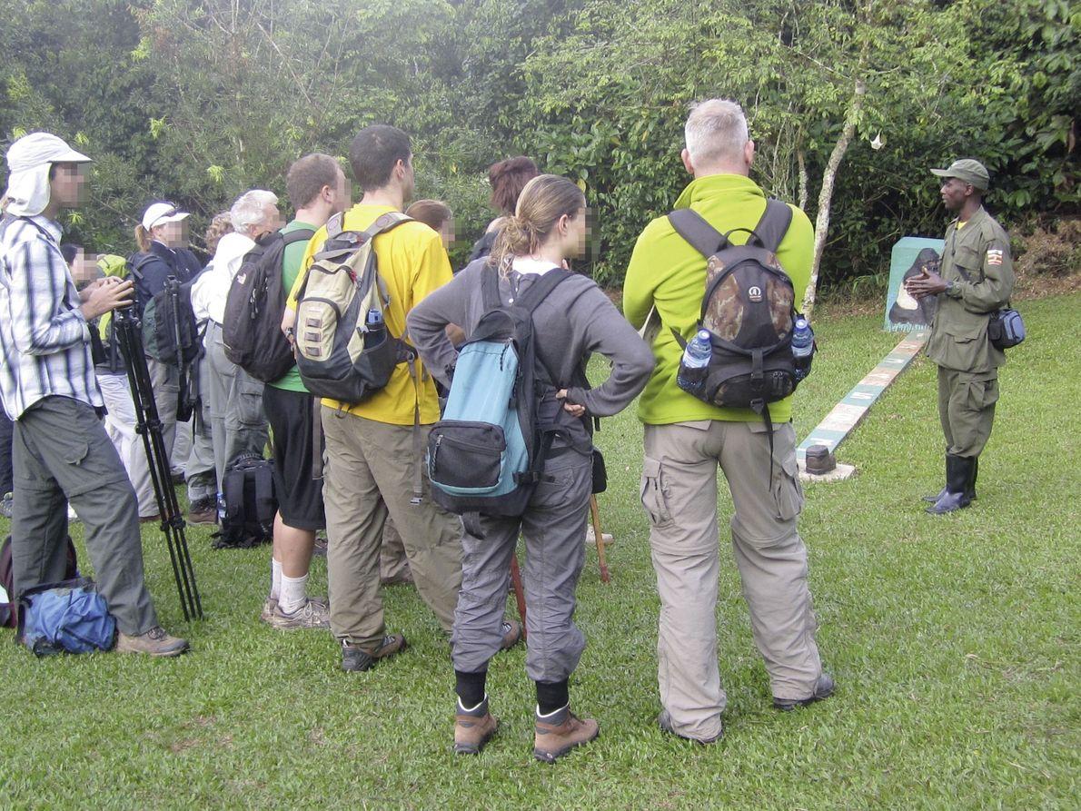 Touristen im Bwindi-Impenetrable-Nationalpark in Uganda