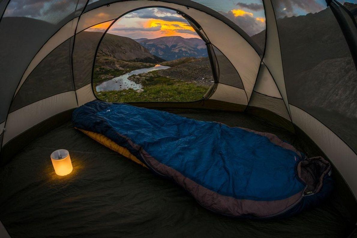 """Hier hat sich ein Camper in Colorado in der Nähe des Quandary Peak ein """"Zimmer mit ..."""