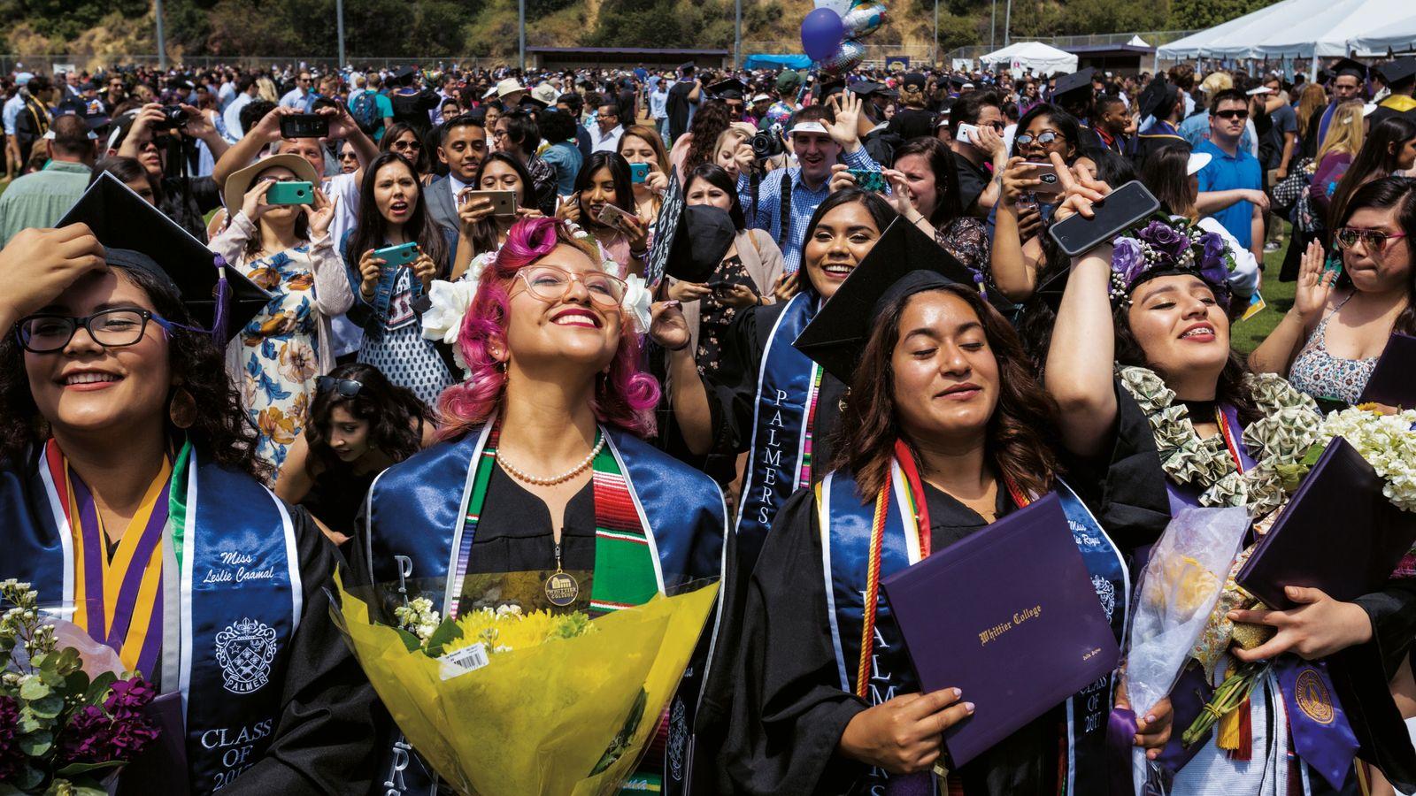 Studentinnen des kalifornischen Whittier College