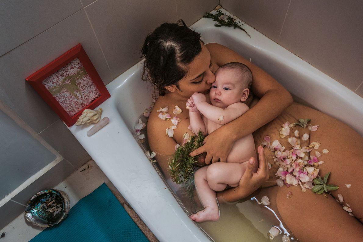 Laura Sermeño und ihr Baby
