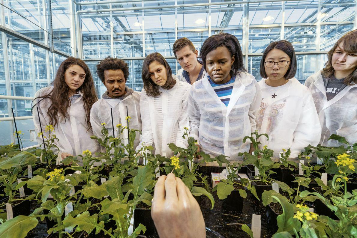Studierenden der Uni Wageningen
