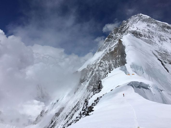 Kletterer auf dem Everest