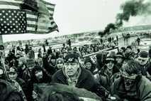 Protest gegen den Bau der inzwischen eröffneten Dakota Access Pipeline