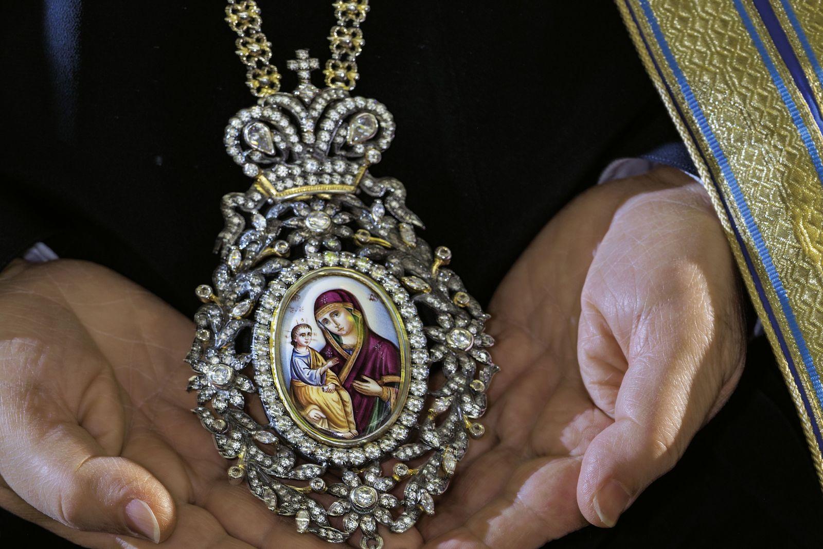 Ikone mit der Jungfrau Maria und dem Jesuskind