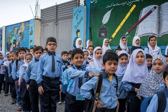 Schulkinder Kabul