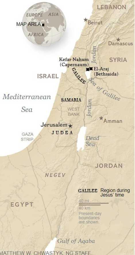 Der Fund des biblischen Bethsaida: Archäologen haben vermutlich das biblische Bethsaida in der Nähe des Ufers ...