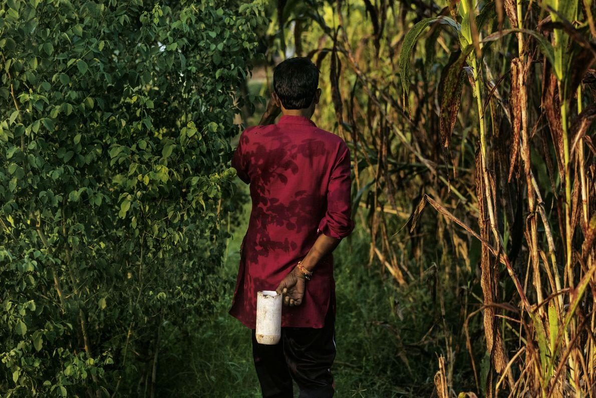 Bauer in Indien im Feld