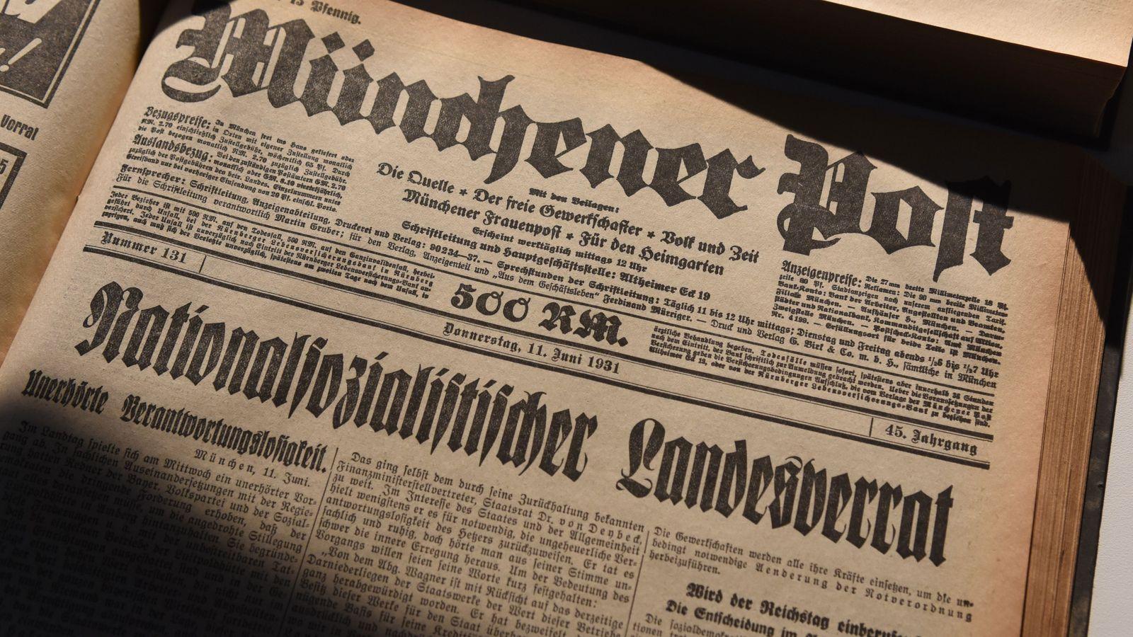 Schlagzeile Münchener Post