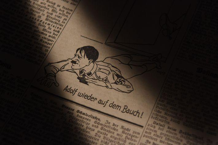 Hitler Karikatur Münchener Post