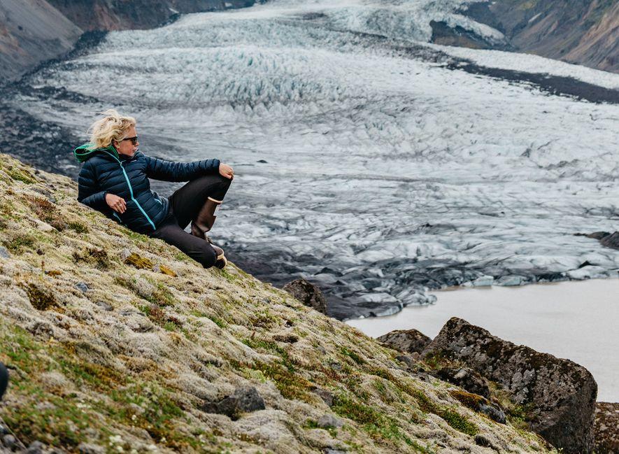 Was sehen Sie, wenn Sie auf einen Gletscher schauen?