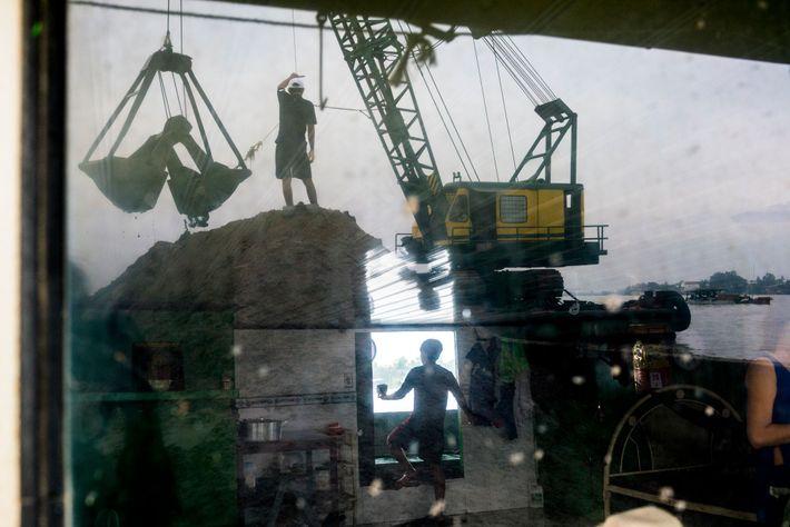 Menschen auf Bau