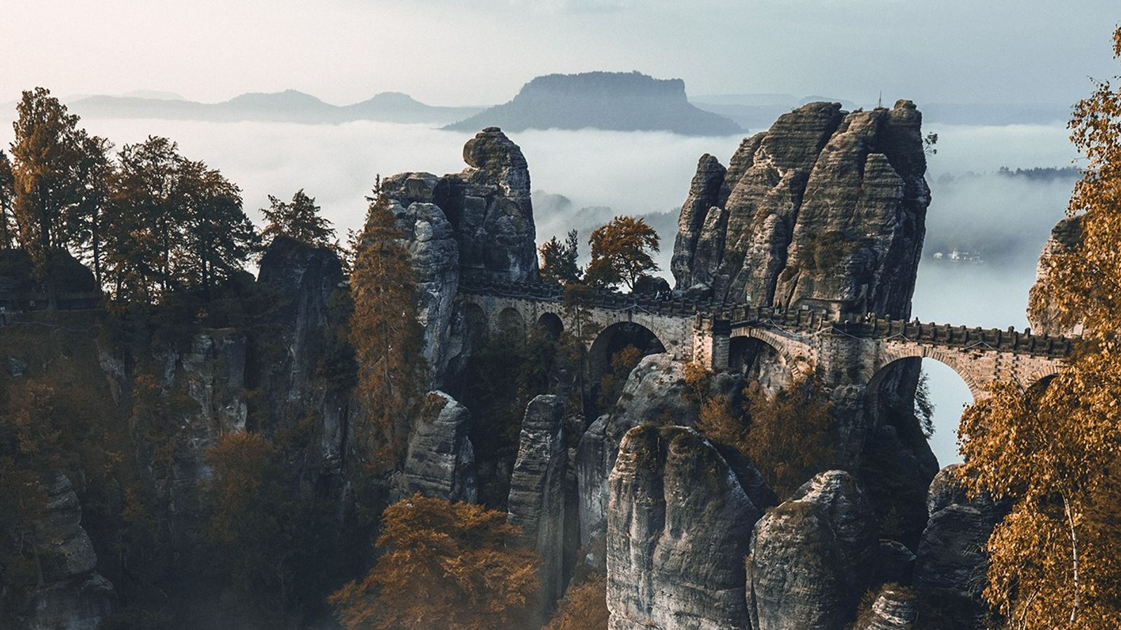 Die Basteibrücke in der Sächsischen Schweiz