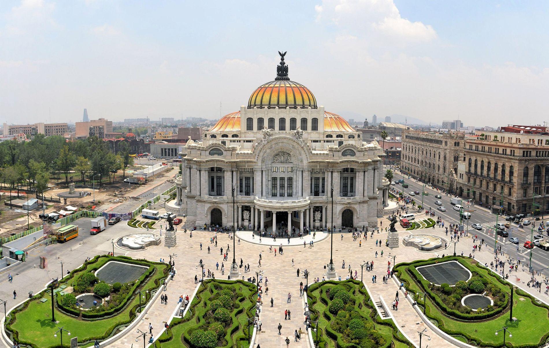 Der Palacio de Bellas Artes liegt im historischen Teil von Mexiko-Stadt. In der Metropole setzen sich Food-Aktivisten für ein kulinarisches Kulturgut ein: Maisfladen.