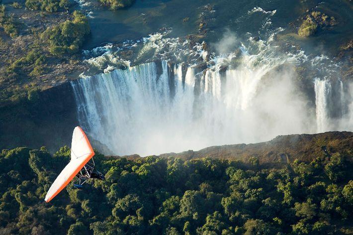 Microlight, Victoria Falls, Zimbabwe, Zambia