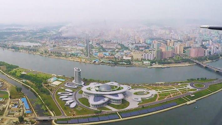 Pjöngjang sieht von oben überraschend schön aus