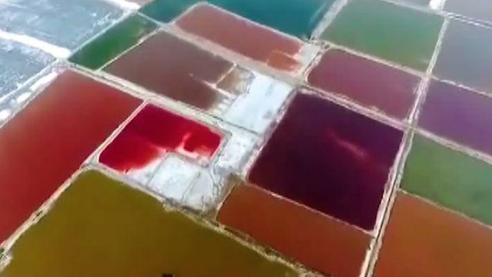 Die wechselnden Farben des Xiechi-Sees