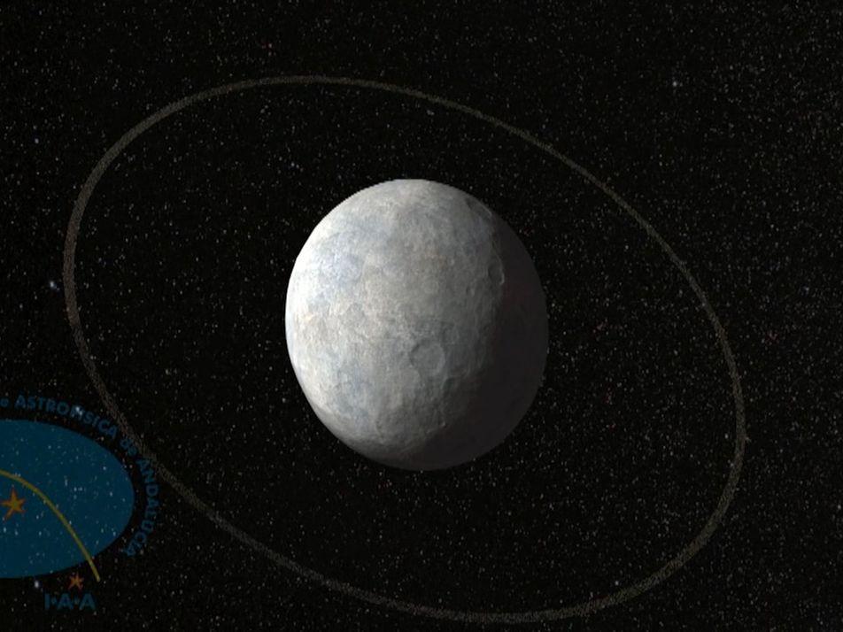 Animation: Zwergplanet Haumea hat einen Ring