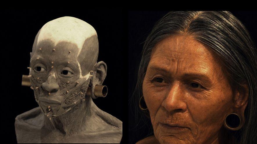 Gesicht einer alten Königin erstmals enthüllt
