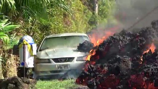 Kilauea: Lavaströme verschlingen Straßen und Autos