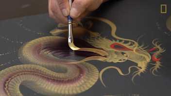 Die japanische Kunst des einen Pinselstrichs