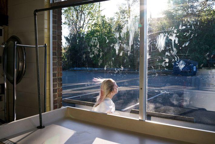 Blick aus einem Waschsalon. Gainesville, Florida. 2013