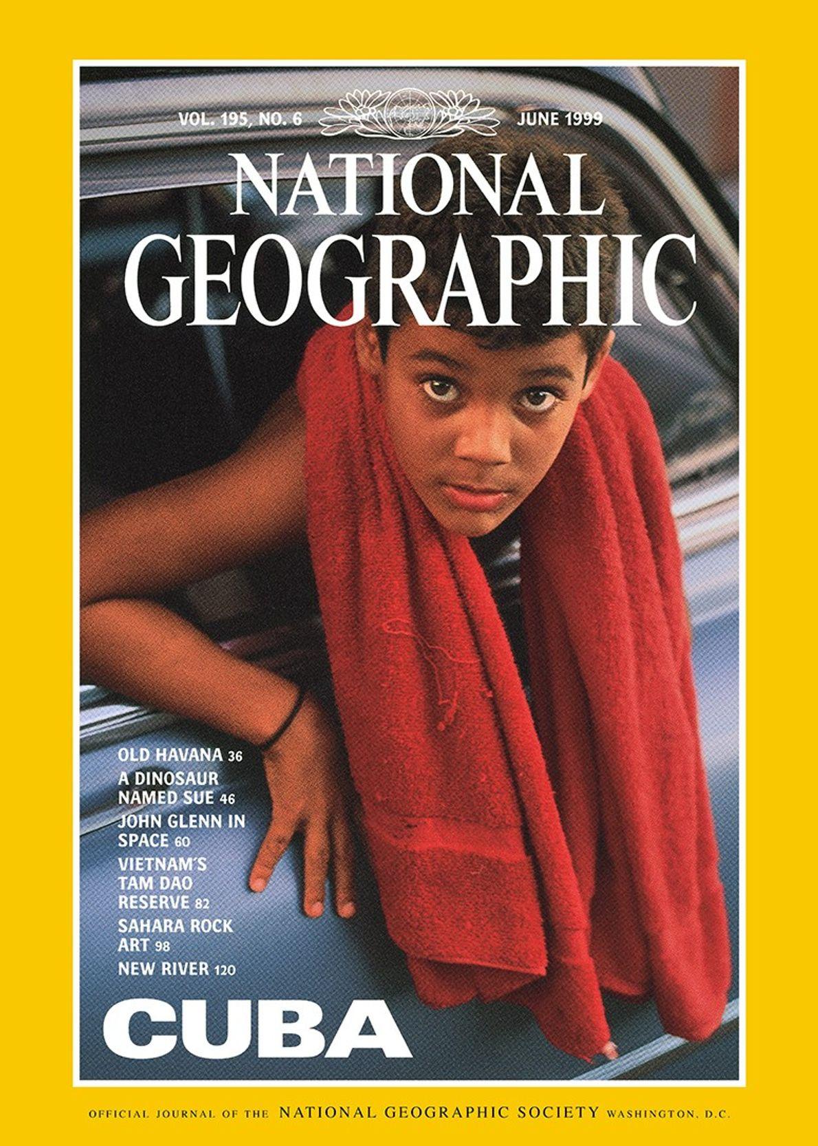 """Cuba"": Titelbild der Juniausgabe der National Geographic 1999."