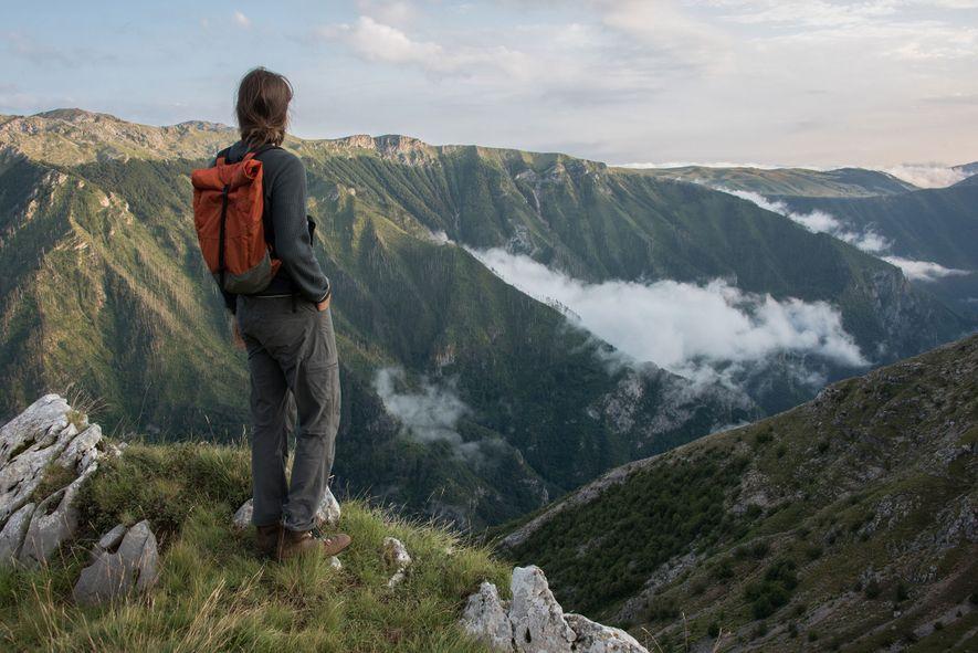 Aussichtspunkt über der Schlucht des Rakitnica