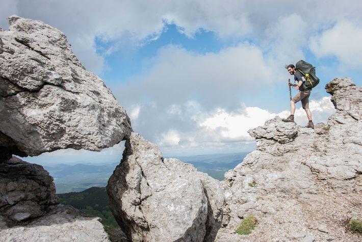 Blick vom Gipfel auf die Adria