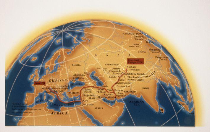 asiatische karte bericht