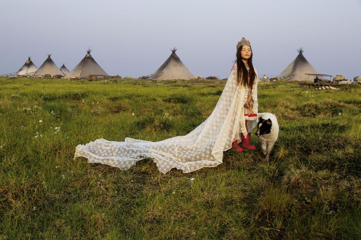 Kristina Chudi als Prinzessin der Tundra