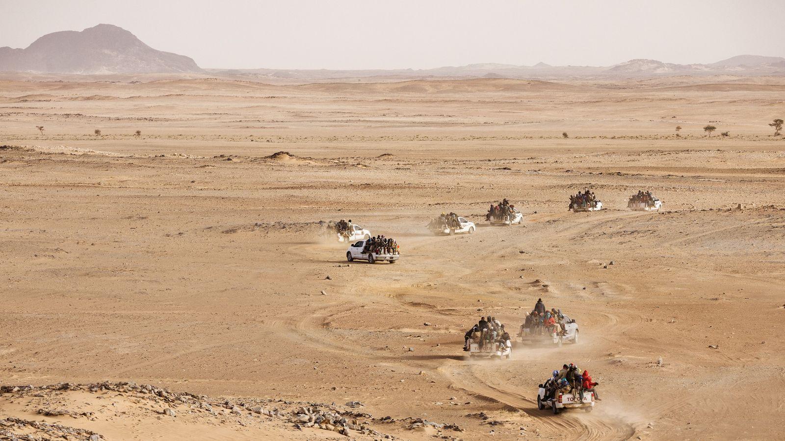 Fahrt von Agadez nach Libyen