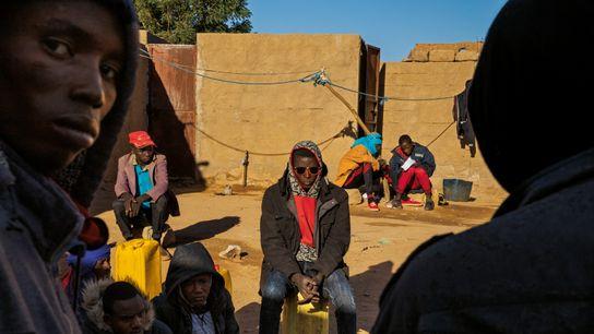 Flüchtlingsviertel von Agadez