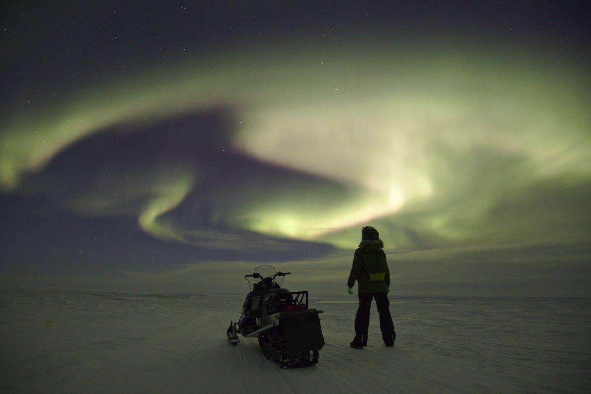 Night Rider | Selbstporträt mit Polarlicht.