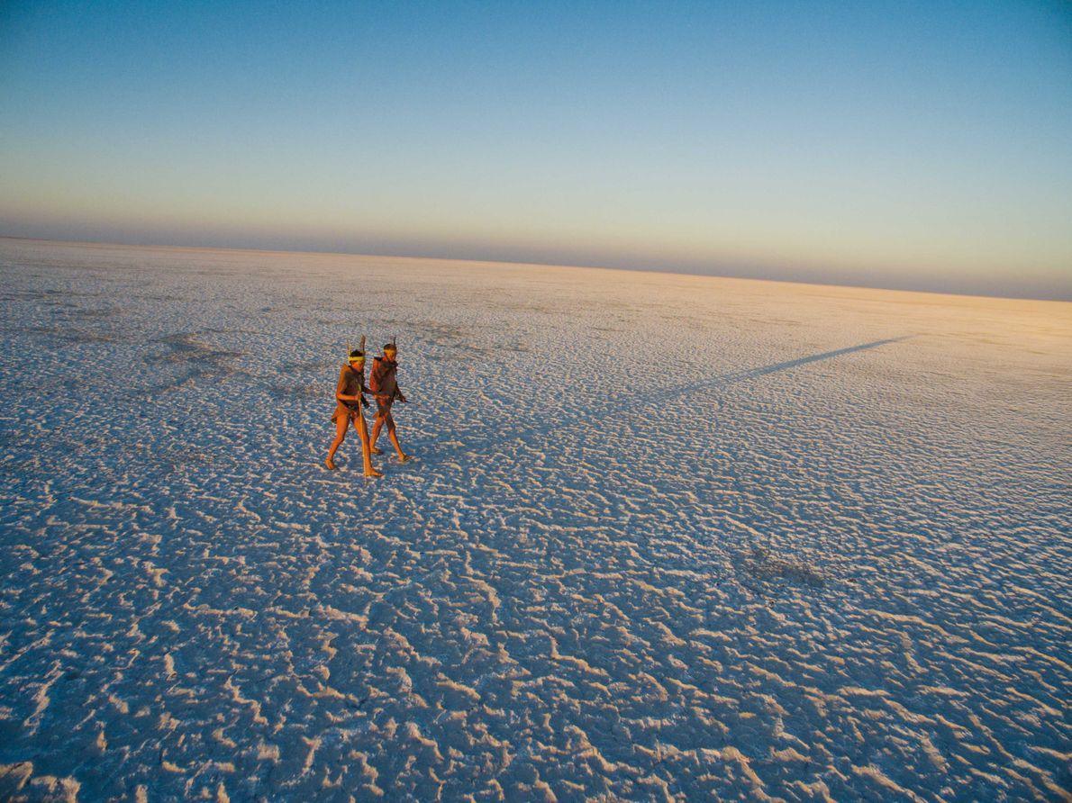 Salzsee im nördlichen Botswana