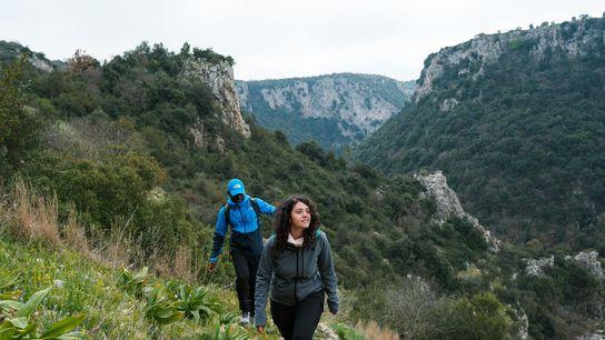 Exploring Gravina di Laterza canyon in Puglia.