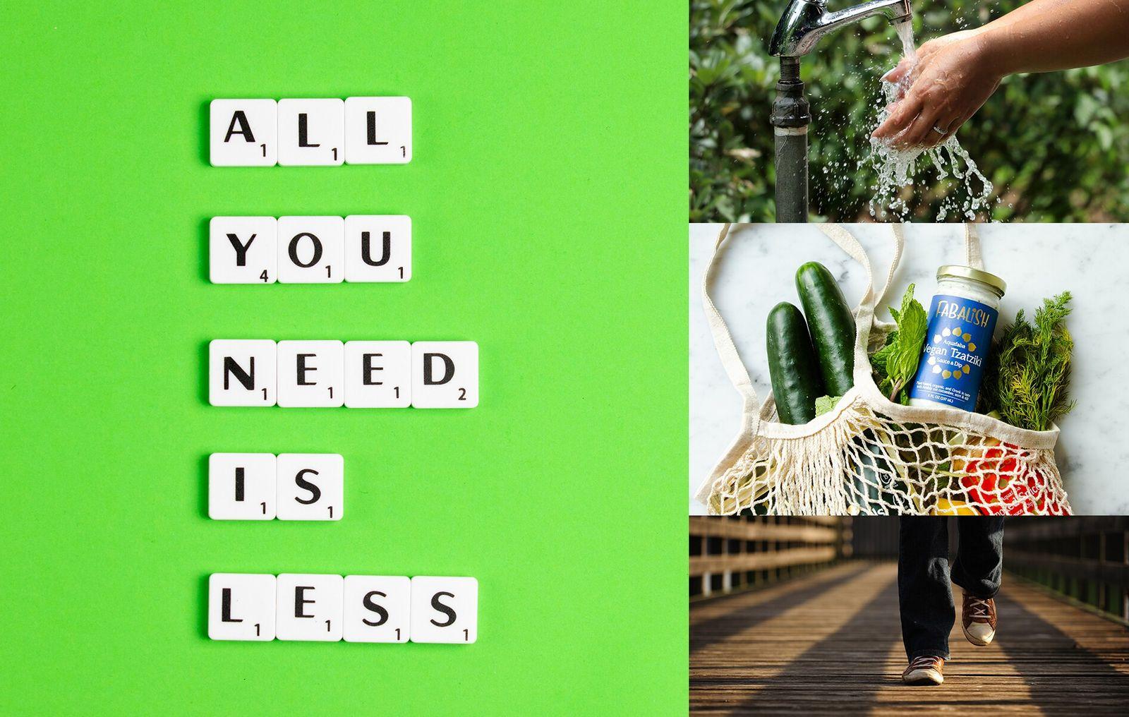 Durch ein bewussteres Konsumverhalten – vom Einkauf über den Wasserverbrauch bis hin zu Lebensmitteln und Transport ...