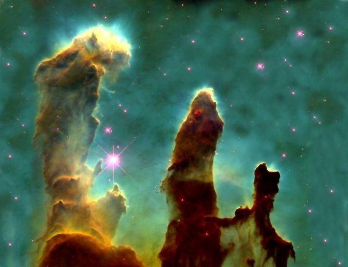 Die Säulen der Schöpfung, 1995, Aufnahme des Hubble-Weltraumteleskops