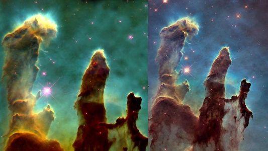 In den Säulen der Schöpfung tobt ein Kampf ums Überleben