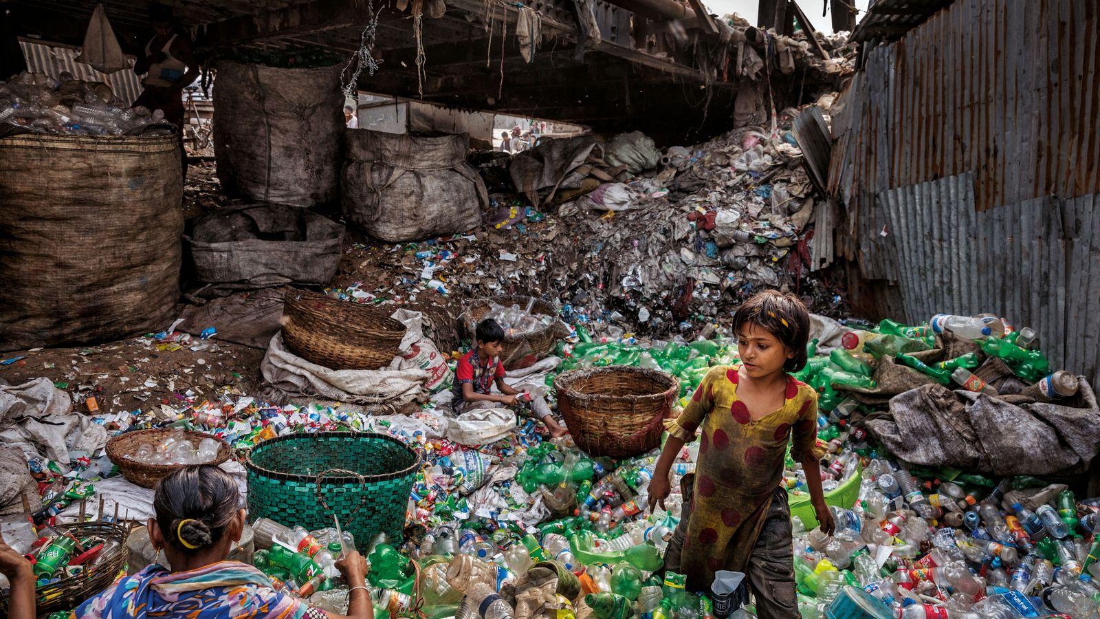 Plastikflaschen  Plastikmüll