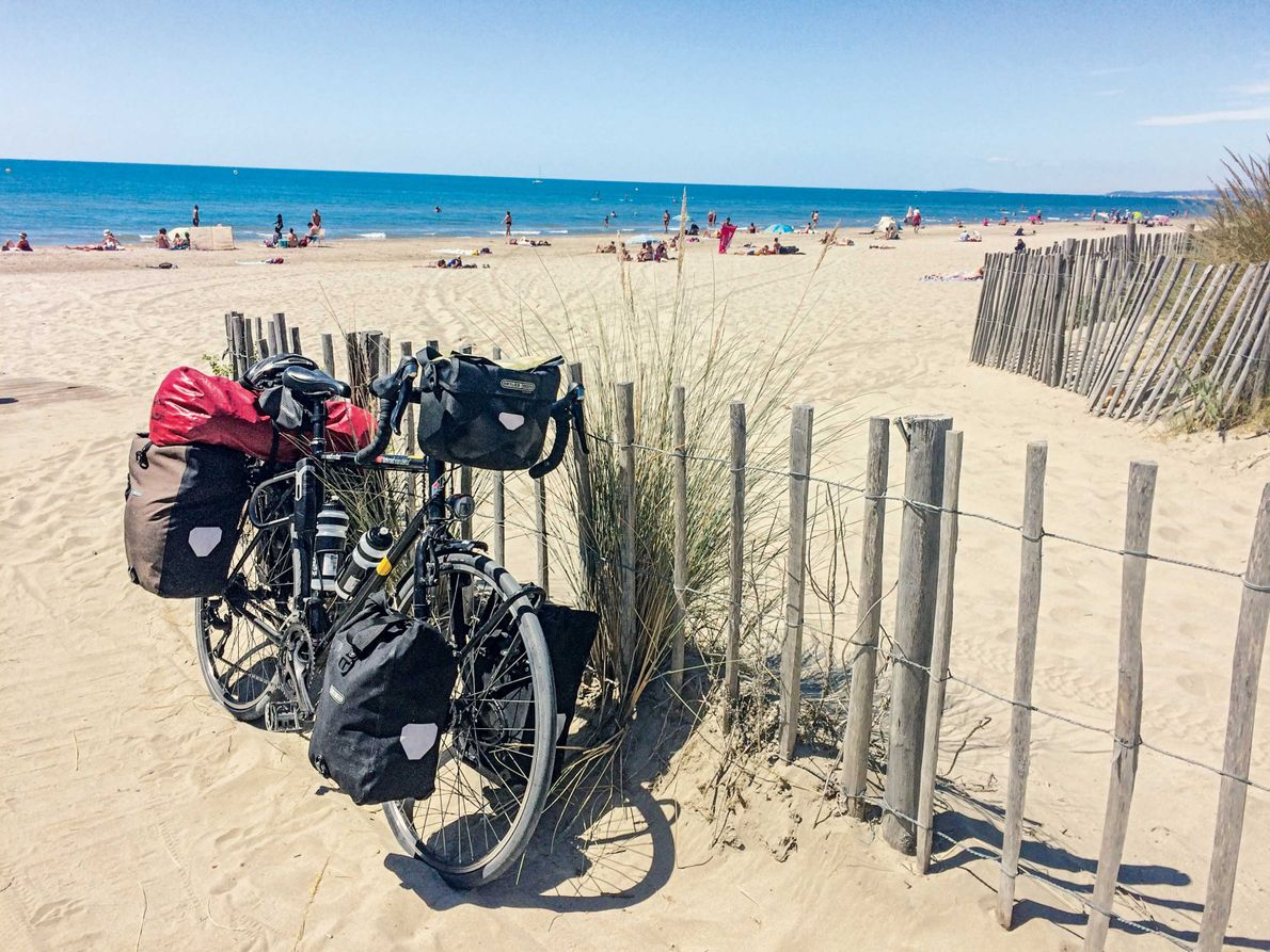 Fahrrad auf Strand