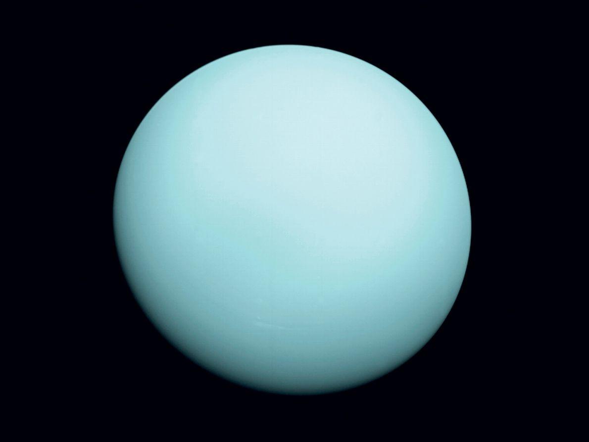 Am 23. Januar 1986 näherte sich Voyager 2 dem Eisriesen Uranus auf knapp 81.500 Kilometer an ...