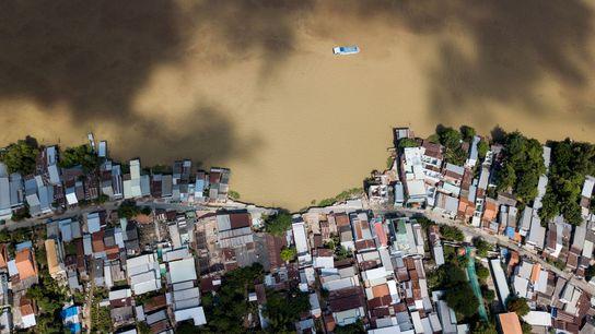 Fluss Van Nao in der vietnamesischen Provinz An Giang