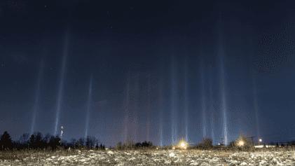 Wodurch entstehen Lichtsäulen in der Atmosphäre?
