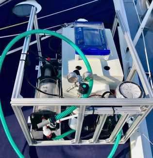Sensoren auf der Segeljacht