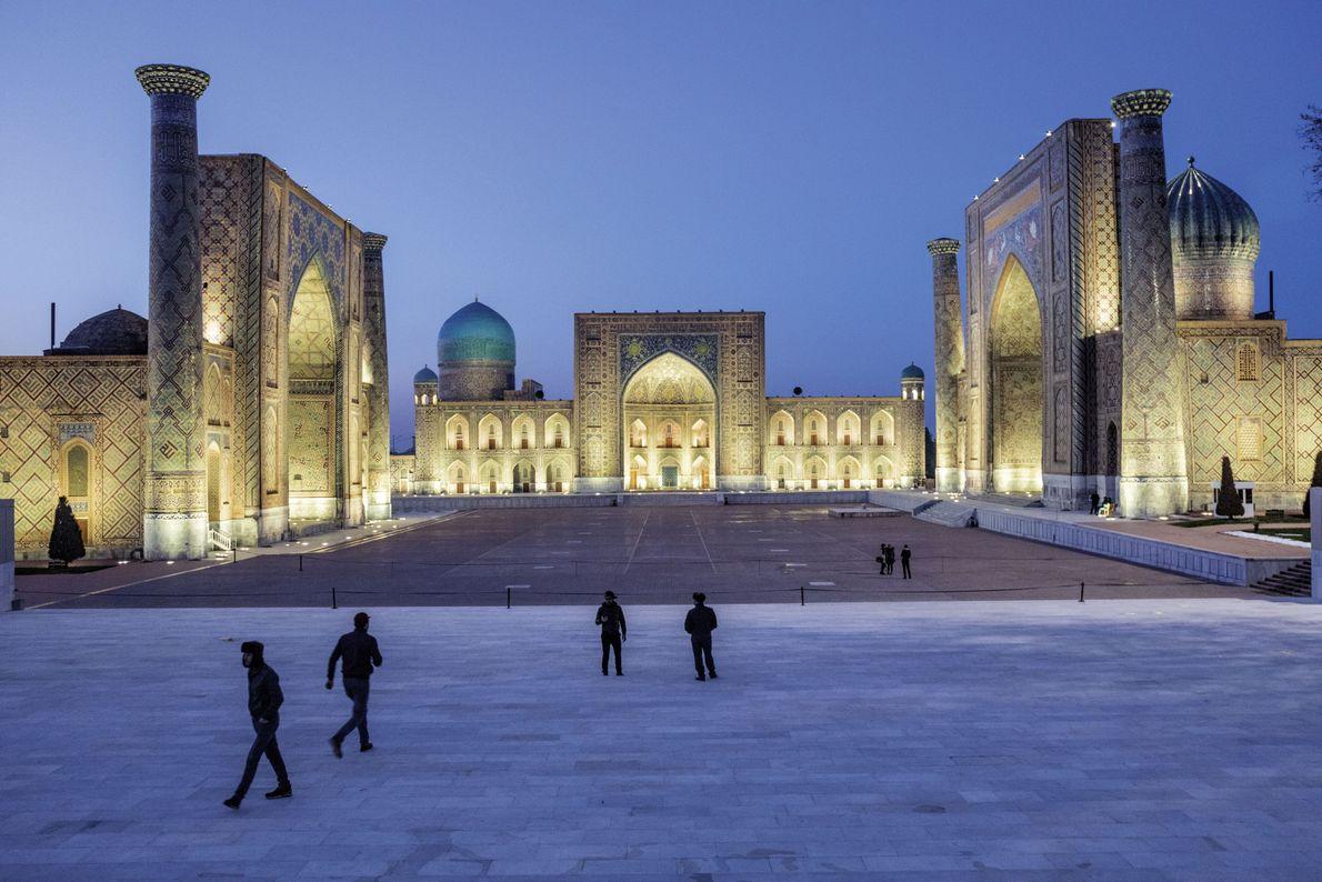 Marktplatz in der usbekischen Stadt Samarkand