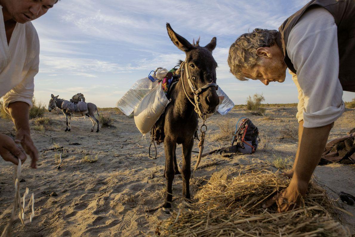 Autor Paul Salopek in Usbekistans Wüste Kysylkum