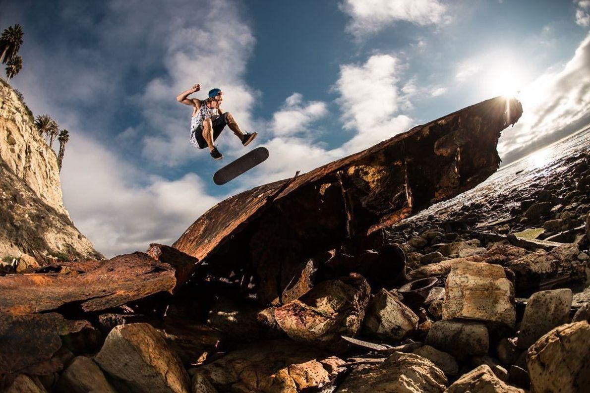 Skateboarden kann man nicht nur auf Asphalt ...