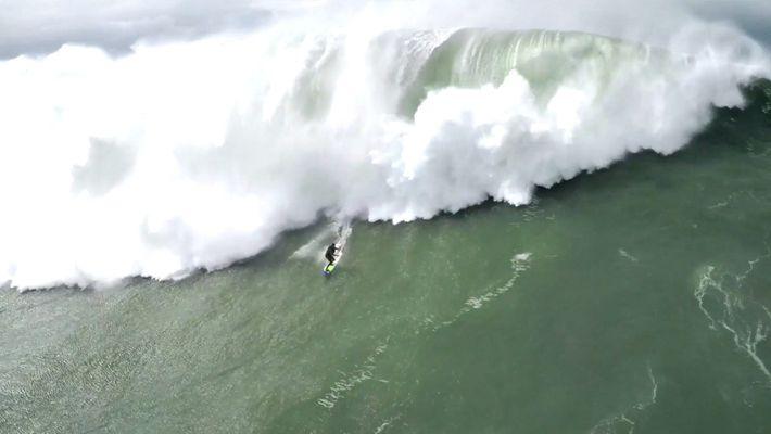 Surfen (und Überleben) in Nazaré