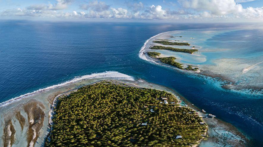 Alle sechs Stunden leert der mächtige Gezeitenstrom die Lagune im Fakarava-Atoll.